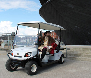 Golf buggies for the Mary Rose Trust supplied by Motorculture Limited