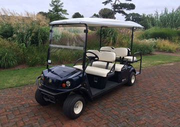 Golf buggies for Royal Botanic Gardens Kew supplied by Motorculture Limited