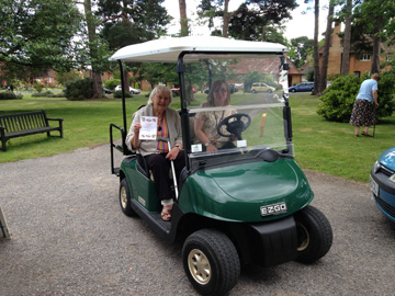 Golf buggies for The Whiteley Homes Trust supplied by Motorculture Limited