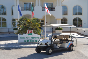Golf buggies for Colina Verde Golf and Sports Resort Algarve Portugal supplied by Motorculture Limited
