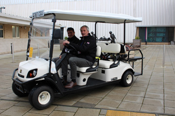 Golf buggy supplied to Help For Heroes by Motorculture Limited
