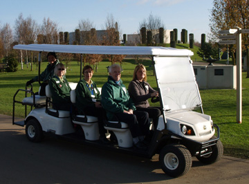 National Memorial Arboretum people mover supplied by Motorculture Limited